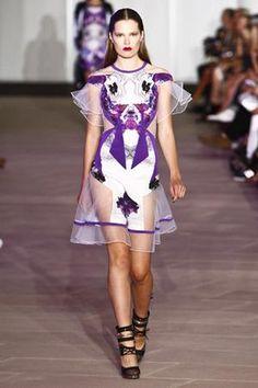 Selena Gomez wearing Prabal Gurung Spring 2012 Rtw Cutout-Detailed Dress.