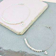 Lisa Angel Ladies' Delicate Freshwater Pearl & Sterling Silver Bridesmaid Bracelet