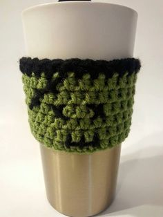 Cup Cozy Frankenstein Monster Cozy Halloween by AJsCrochets