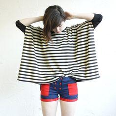 Box T  Black and Cream Stripe  bamboo by iheartnorwegianwood, $75.00