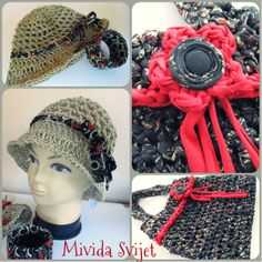 crocheted hat made of rope
