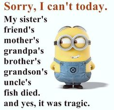 """These """"Top Minion Quotes On Life – Humor Memes & Images Twisted"""" are so funny and hilarious.So scroll down and keep reading these """"Top Minion Quotes On Life – Humor Memes & Images Twisted"""" for make your day more happy and more hilarious. Funny Minion Pictures, Funny Minion Memes, Crazy Funny Memes, Minions Quotes, Really Funny Memes, Haha Funny, Memes Humor, Top Funny, Funny Pics"""