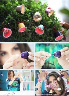 Como transformar cápsulas de café em luzinhas fofas e coloridas para a sua casa