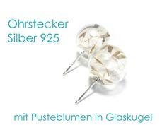 **Ohrstecker Pusteblume** mit Ohrstecker aus Echt Silber 925 (Sterlingsilber) und Pusteblumen in mundgeblasener Glaskugel. Die Pusteblumen-Ohrstecker haben einen Durchmesser von 14 mm und sind...