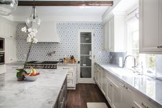 Backsplash, Hood, Beam Storage! Dana Benson Construction - Spanish Transitional, Los Angeles