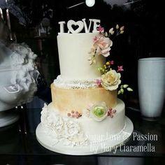 Love - Spring wedding cake - Cake by Mary Ciaramella (Sugar Love & Passion)