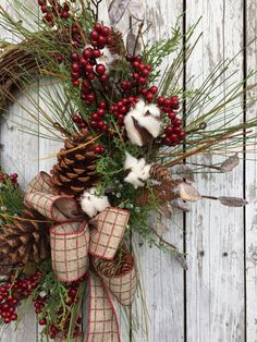 Country Christmas Wreath Christmas Wreaths by marigoldsdesigns
