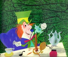 Alice in Wonderland concept art by Mary Blair.