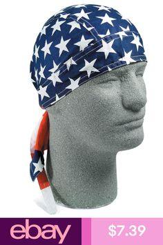 BANDANA MOTORCYLE-WAVY AMERICAN FLAG STYLE LOT OF 2 HAT
