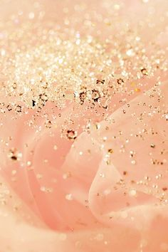 Pretty Peach Fabric with sparkling gold sequins