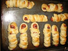 Mummy Dogs! I think this will be our Halloween dinner!