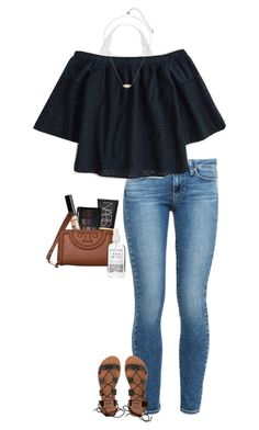 """""""friday night dinner"""" by gabyleoni ❤ liked on Polyvore featuring Paige Denim, Youmita, Abercrombie & Fitch, Kendra Scott, NARS Cosmetics, Billabong, NYX, Tory Burch and Herbivore"""