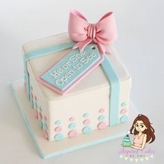 Do you need some ideas for gender reveal cakes? You can find it here . Swipe left to see all the amazing cakes . Please if you think all the cakes are absolutely gorgeous Idee Baby Shower, Fiesta Baby Shower, Gender Party, Baby Gender Reveal Party, Gateau Baby Shower, Baby Shower Cakes, Baby Party, Baby Shower Parties, Baby Reveal Cakes