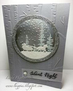 Linda Higgins: Sparkly Sleigh Ride in blue or grey? Linda Higgins: Sparkly Sleigh Ride in blue or grey? Homemade Christmas Cards, Stampin Up Christmas, Christmas Cards To Make, Xmas Cards, Homemade Cards, Christmas Crafts, Blue Christmas, Holiday Cards, Karten Diy