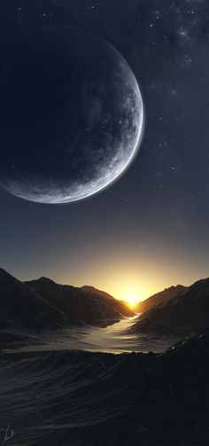 "Mountain Pass by Kenneth Jensen, ""space scene creator"""