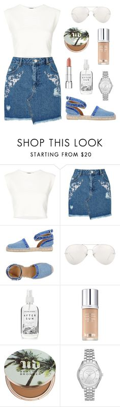 """Sunset Strolls"" by tasha-m-e ❤ liked on Polyvore featuring Puma, Miss Selfridge, Philipp Plein, Linda Farrow, Herbivore, La Prairie, Urban Decay, Michael Kors and Rimmel"