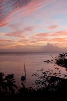 incredible sunset view from Anse Chasnet resort in St Lucia