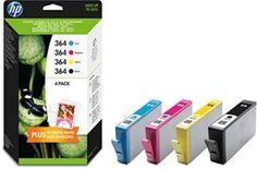 HP 364 Combo Pack  Paquete de 4 cartuchos de tinta originales
