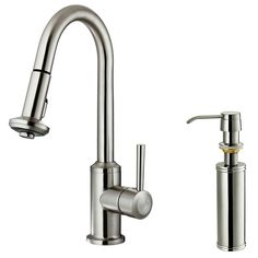With its durable stainless steel construction, this swivel kitchen faucet delivers exceptional durability and is capable of enduring daily use for years to come. Description from overstock.com. I searched for this on bing.com/images