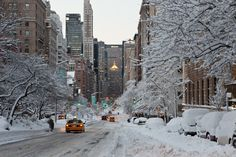 New York sotto la neve.