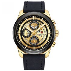 Up your wrist game to the next level with the Elison-A professionally crafted timepiece made for precision and accuracy while still upholding an unbeatable price Mens Sport Watches, Mens Watches Leather, Luxury Watches For Men, Big Watches, Cool Watches, Wrist Watches, Golden Watch, Waterproof Watch, Casio Watch