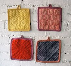 How-To: Sashiko Sampler Potholders