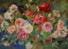 Pierre-Auguste Renoir | pierre auguste renoir roses iii painting - pierre auguste renoir roses ...