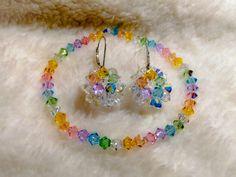 Na objednávku vyrábaný kúsok ... :D Crochet Necklace, Swarovski, Crystals, Bracelets, Jewelry, Jewlery, Jewerly, Schmuck, Crystal