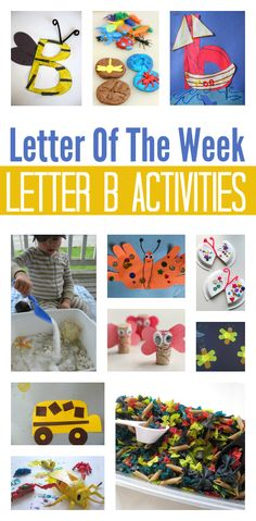 Letter B activities for letter of the week