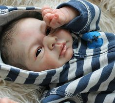 "Beautiful Reborn/Newborn Baby Boy Doll - ""YELINA"" Sculpted by Elisa Marx"