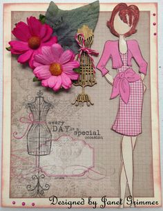 Any Occassion Card with Prima Doll by HeavenlyMoments on Etsy, $5.00