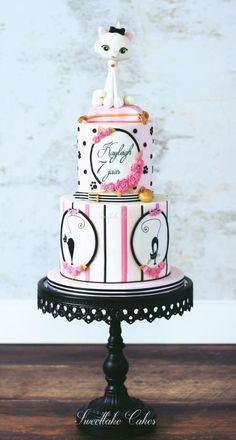 Parisian cat cake by Tamara