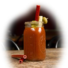 The first of it's kind.......The Bloody Mary Beef Straw.