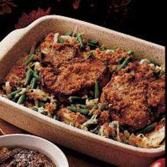 Autumn Pork Chop Dinner Recipe...use gf bread crumbs