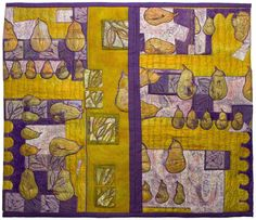 """Mixed media art quilt that measures approximately 26"""" square titled """"Fertility."""""""
