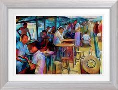 Shop Singapore Food Stall - Watercolour Art Print created by TheDigitalConsultant. Poster Prints, Posters, Art Prints, Singapore Art, Food Stall, Watercolour Art, Custom Framing, Online Art Gallery, Original Art