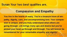 What are your two Best qualities?
