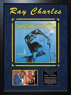 Ray Charles - Crying Time - Signed Album LP Custom Framed