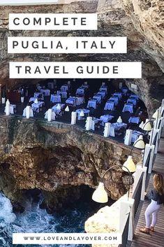 Puglia, Italy Travel Guide #travel #traveltips #travelguide #italy #travelitaly #southernitaly #italianbeaches
