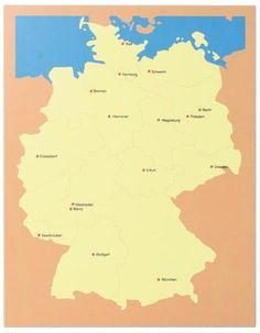 Montessori, Kommode Deutschland, hochwertiges Lernspiel,