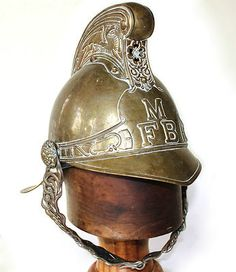 British Merryweather Pattern Brass Fire Service Helmet