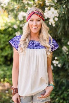 Beautiful traditional Puebla Mexican Top which has been handmade &amp…