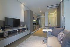 Loft de 40 m2 utiliza divisões modulares para manter privacidade