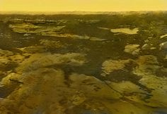 On October 25, 1975, Venera 10 landed on the surface of Venus and acquired a 180-degree panorama of the surface. Ted Stryk used the images in the panorama to create this artistic view of what the scene would look like if one were standing on the surface. The objects in the image are real, though the arrangement is not. (Colorized)