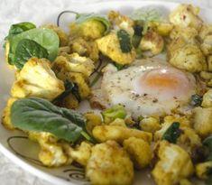Karfiol na kari a špenáte zachutí aj vám Potato Salad, Cauliflower, Potatoes, Vegetables, Health, Ethnic Recipes, Kitchen, Anna, Gardening