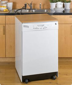 haier portable dishwasher. a portable dishwasher that doubles as extra counter space! (because you can\u0027t haier