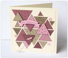 Card Challenge - use at least 5 triangles on your card Mini Albums Scrapbook, Photo Album Scrapbooking, Scrapbook Cards, 2 Birthday, Birthday Cards, Diy Cards, Your Cards, Stampin Up Cards, Making Ideas