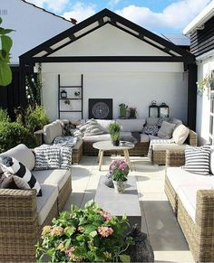 Don't be tempted to overspend when creating the perfect outdoor space. The large backyard landscaping ideas can get costly quickly if you're not careful. Backyard Playhouse, Backyard Patio, Backyard Ideas, Backyard Beach, Outdoor Rooms, Outdoor Living, Outdoor Decor, Outdoor Seating, Grass Alternative