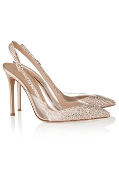 8ac74ca6101b Gianvito Rossi - Embellished satin and PVC pumps