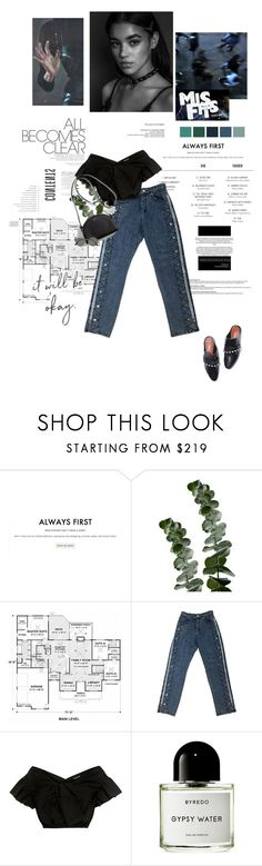 """""""All becomes clear [please read]."""" by sarahstardom ❤ liked on Polyvore featuring Villain, Gianvito Rossi, L'Oréal Paris, M.Y.O.B., Rachel Comey, Byredo, Ray-Ban and Prada"""